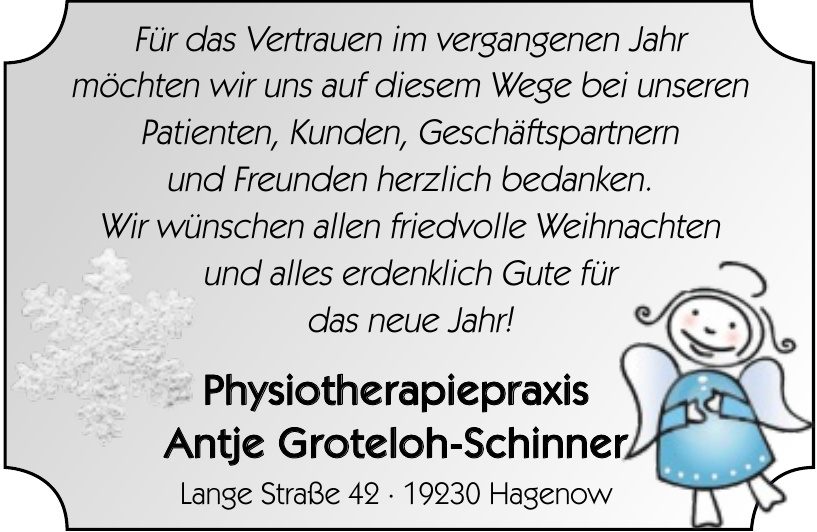 Physiotherapiepraxis Antje Groteloh-Schinner