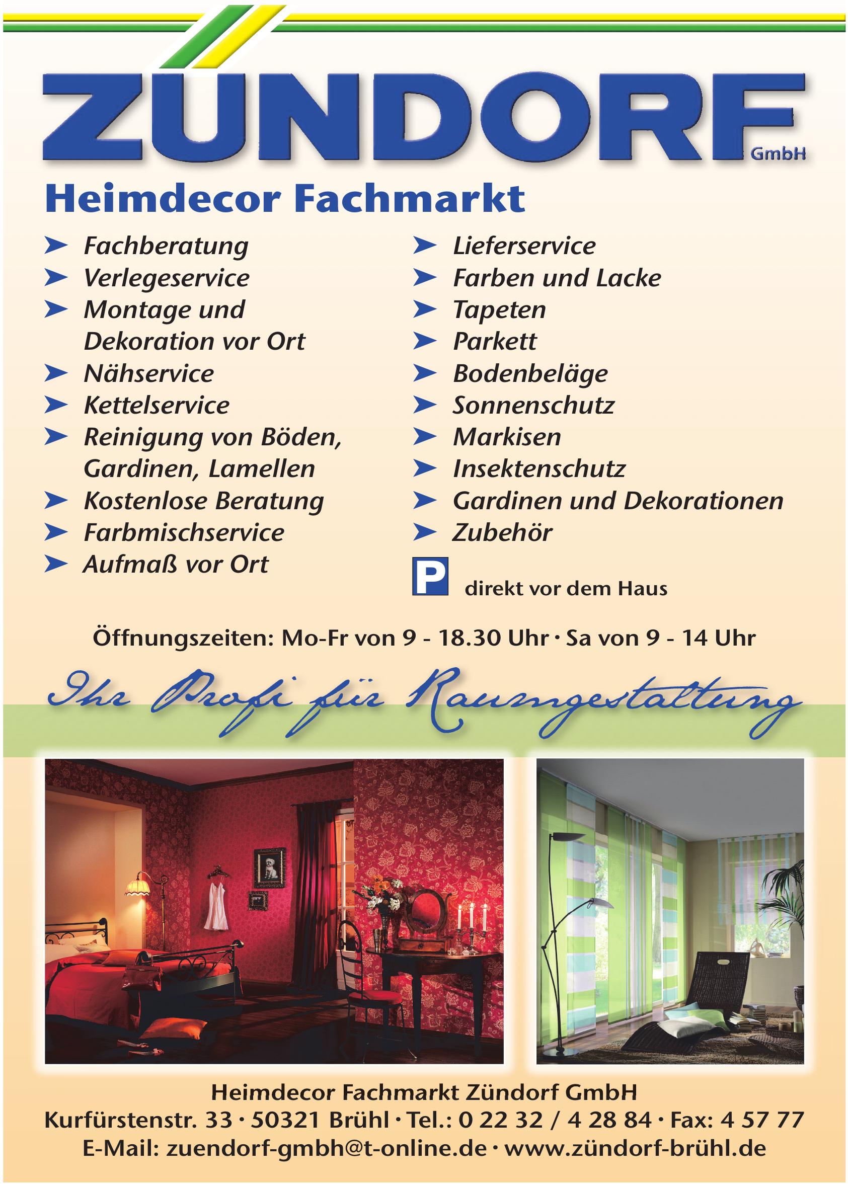Heimdecor Fachmarkt Zündorf GmbH