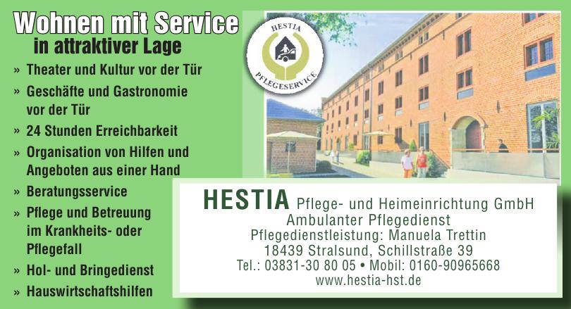 Hestia Pflege- und Heimeinrichtung GmbH Ambulanter Pflegedienst
