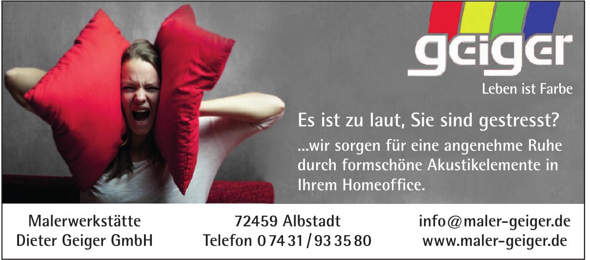 Malerwerkstätte Dieter Geiger GmbH