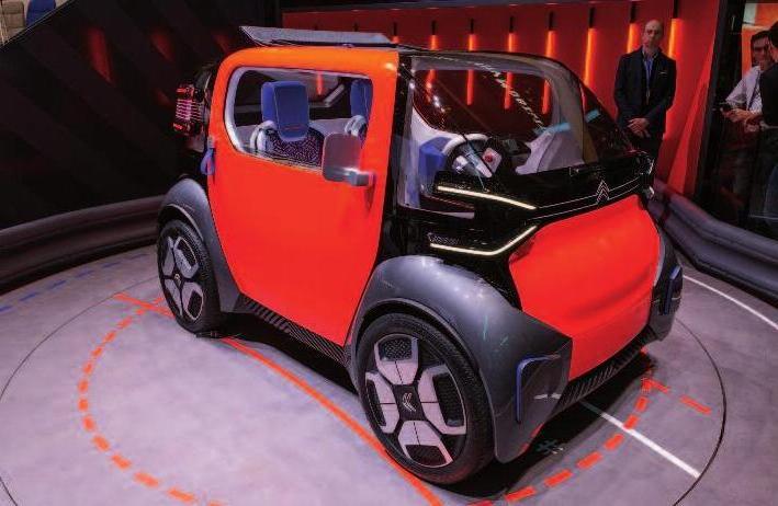 Der neue Freund des französischen Herstellers Citroën: das Ami One Concept Car. Fotos (4): GIMS PhotoproEvent.com