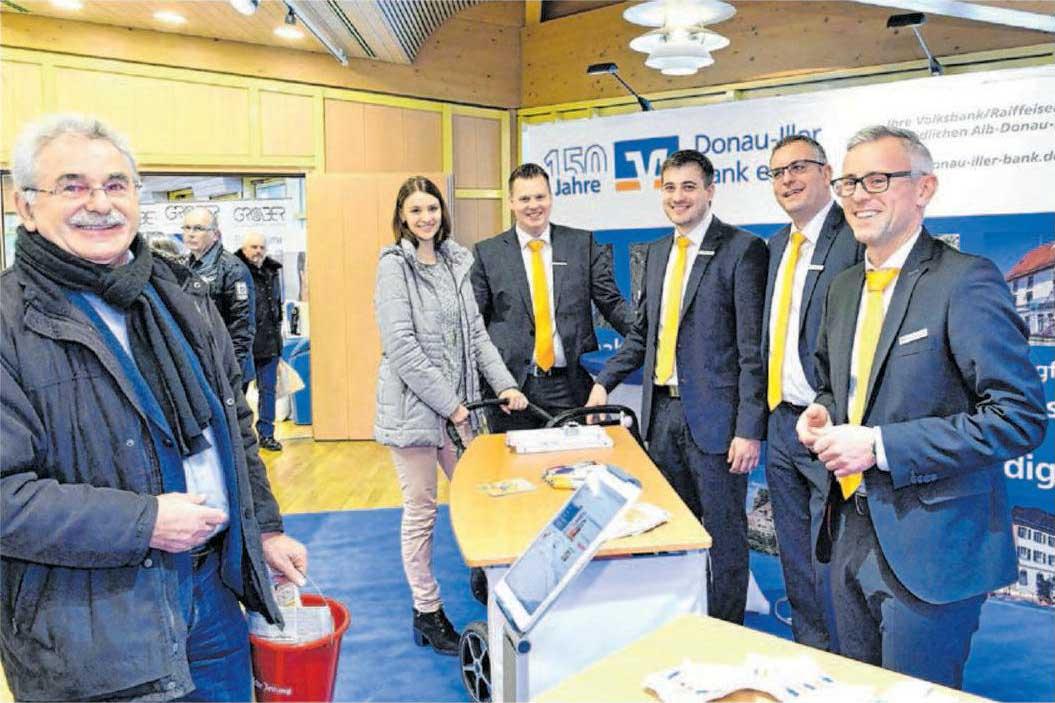 Die Donau-Iller Bank ist erneut mit ihrem TÜV-zertifizierten Baufinanzierer-Team und der Immobilienabteilung vor Ort.