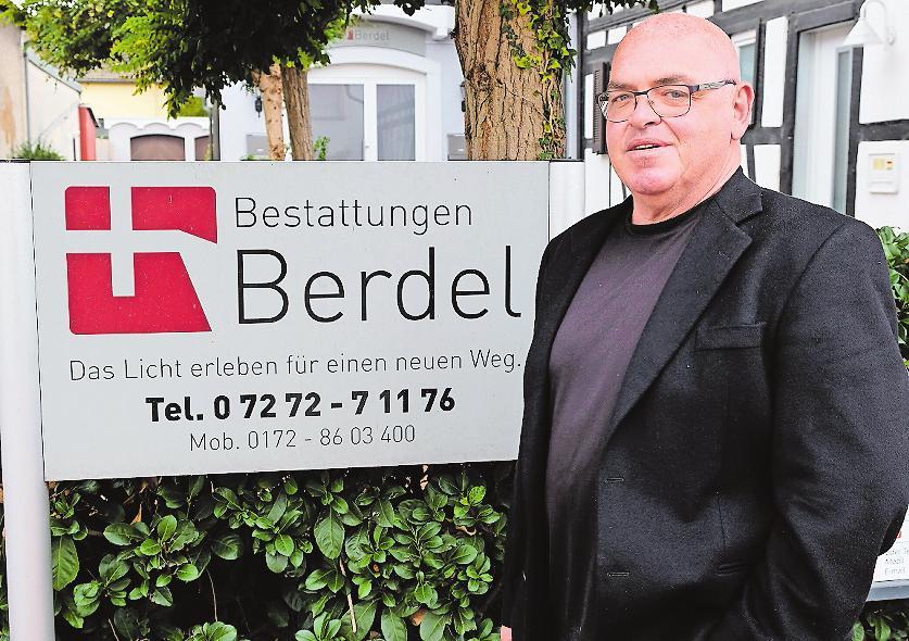 Im Trauerfall: Ronny Berdel kümmert sich. ARCHIVFOTO: TKN
