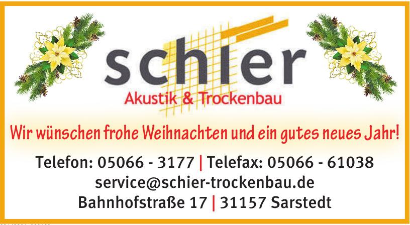 Schier Akustik & Trockenbau