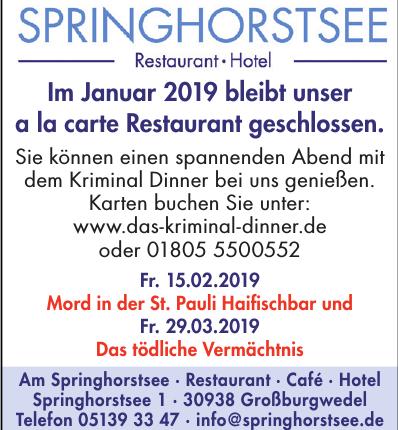 Am Springhorstsee · Restaurant · Café · Hotel