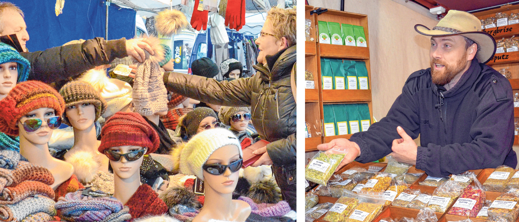 Zahlreiche Händler bieten ihre Waren zum Verkauf an. Die Produktvielfalt ist wie jedes Jahr sehr groß. FOTOS: STADT/ARCHIV