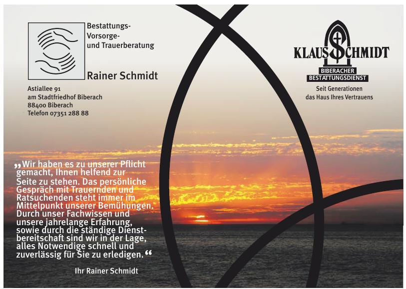 Klaus Schmidt Biberacher Bestattungsdienst