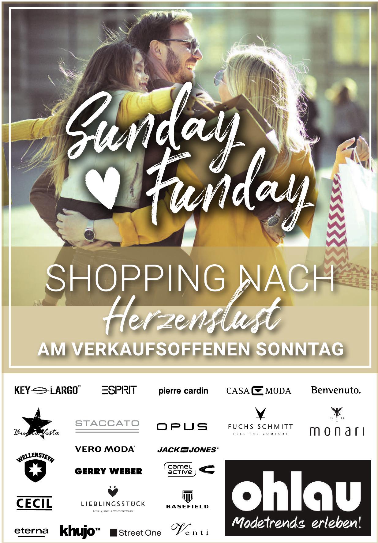 Sunday Funday - Shoping nach Herzenlust am Verkaufsoffenen Sonntag