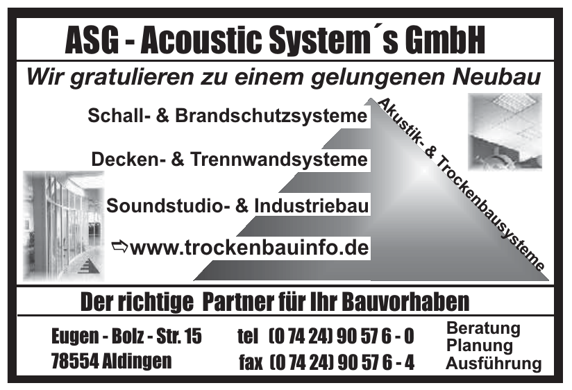 ASG - Acoustic System´s GmbH