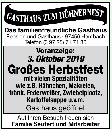 Gasthaus Zum Hühnernest