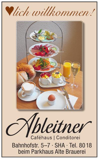 Ableitner Caféhaus, Conditorei