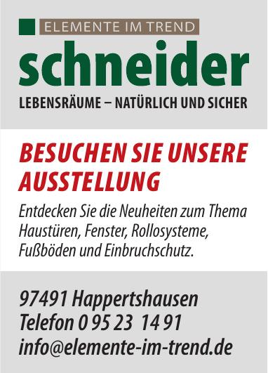 Schneider Elemente im Trend