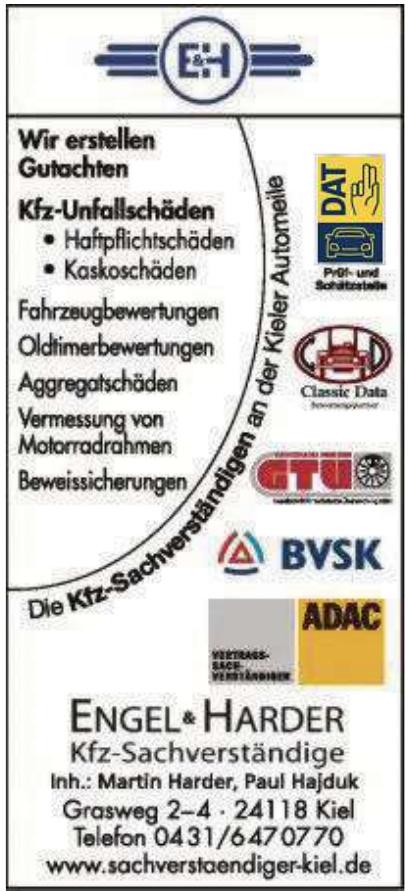E&H – Engel & Harder – Ihre Kfz-Sachverständigen in Kiel