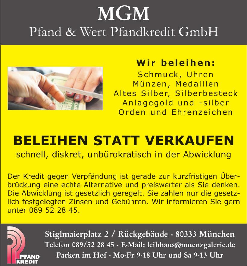 MGM Pfand & Wert Pfandkredit GmbH