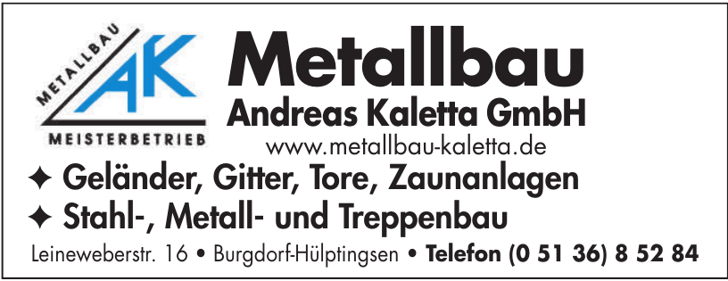 Metallbau Andreas Kaletta GmbH