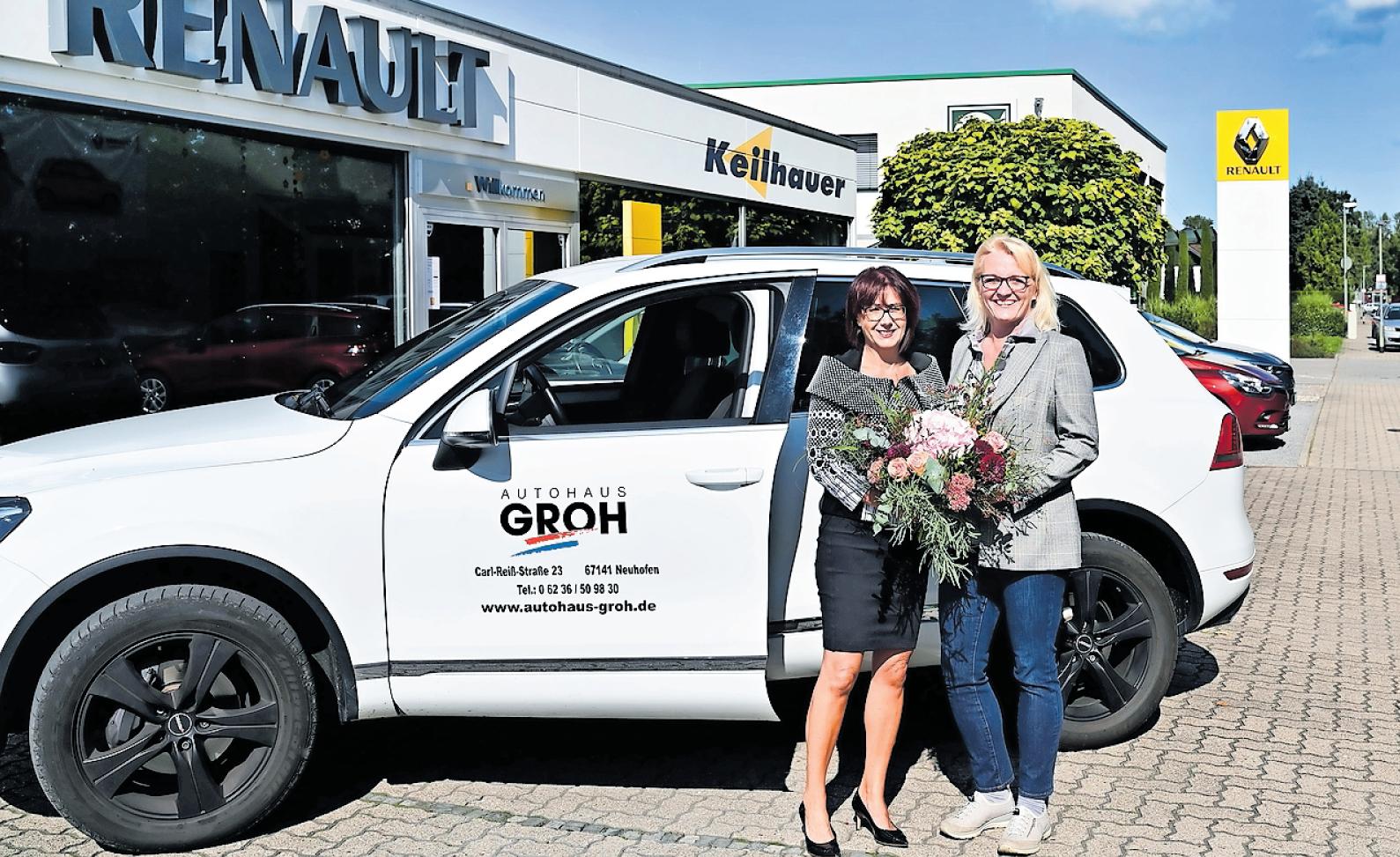 Renault Autohaus Groh in Neuhofen plant Schnellladesäulen für E-Mobilität