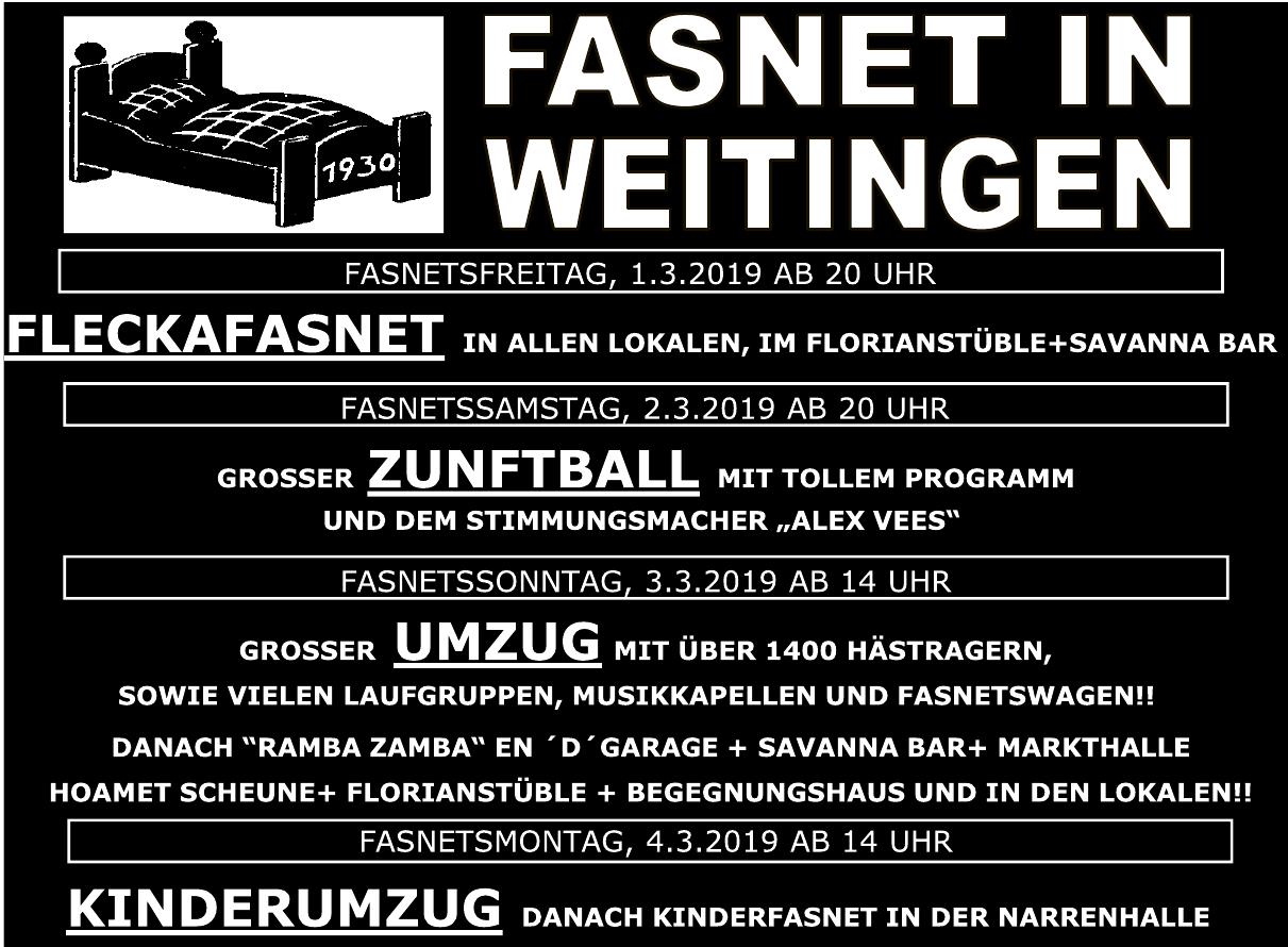 Fasnet in Weitingen
