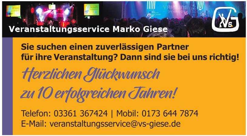 Vearnstaltungsservice Marko Giese