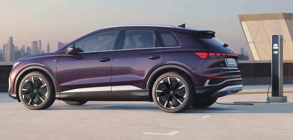 VERBRAUCHSANGABEN Audi Q4 e-tron 125 kW, 180 PS: Stromverbrauch: 17,8 kwH/100km, Kraftstoffverbrauch (l/100km): kombiniert: 0,0, CO2-Effizienzklasse: A+
